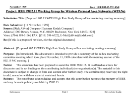 No Slide Title - IEEE Standards Working Group Areas