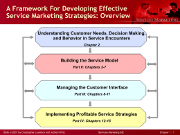 A Framework For Developing Effective Service Marketing