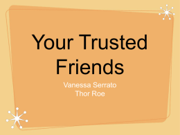 FFN- Your Trusted Friends - English100
