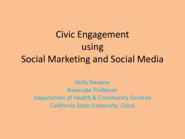 Civic Engagement using Social Marketing and Social Media