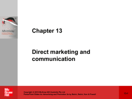 Chapter 1: Where Marketing Communication Began