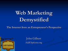 Web Marketing Demystified - Add