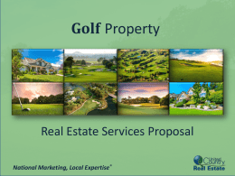United Country is the largest seller of golf property nationwide.