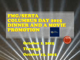 Serta Columbus Day Dinner and a Moviex