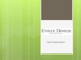 Evolve Designs – Final Presentation