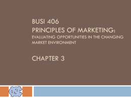 BUSI 160 Principles of Marketing