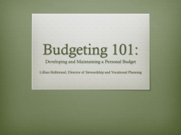 Budgeting 101: Creating and Maintaining a