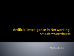 Artificial Intelligence in Networking: Ant Colony Optimization (pptx)