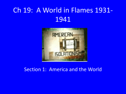 Ch 19: A World in Flames 1931-1941
