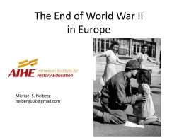 The End of World War II in Europe - Miami
