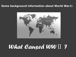 The causes of WWⅡ