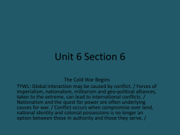 WHPP Unit 6 Section 6 The Cold War Beginsx