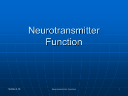 Neurotransmitter Function
