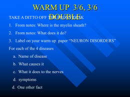WARM UP 3/4 - KENYON'S CLASS