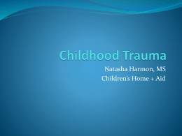 Childhood Trauma - Prevention First