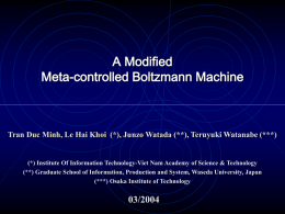 Meta-controlled Boltzmann Machine