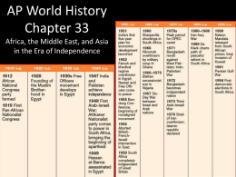 AP World History Chapter 33