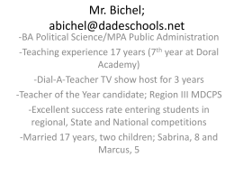 Mr. Bichel - Doral Academy Preparatory School