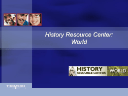 History Resource Center