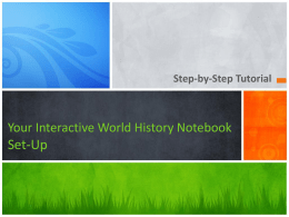 Your Social Studies Interactive Notebook Set-Up