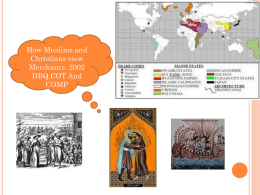 DBQ Christian and Muslim view of merchants