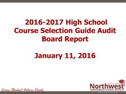 2016-2017 High School Course Additions