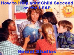 How to Help your Child Succeed on the LEAP