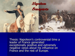 Rise and Fall of Napoleon Ppt