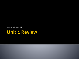 Unit 1 Review PPT