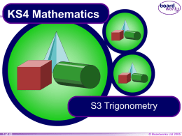 S3 Trigonometry - Haringeymath's Blog