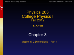 Physics 1422 - Introduction