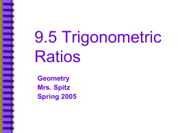 9.5 Trigonometric Ratios