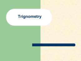 Trigonometry for Physics