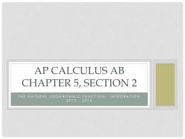 AP Calculus AB Chapter 5, Section 2