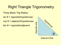 Basic Right triangle trig