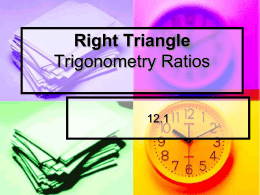 Basic Right Triangle Trig lesson
