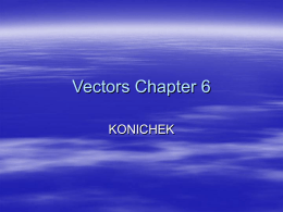 Vectors Chapter 6 - School District of La Crosse