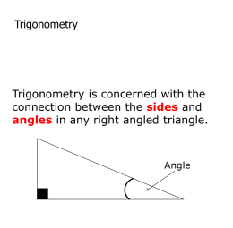 Finding an angle from a triangle