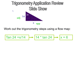 Application to Trig