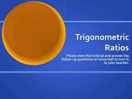 Trigonometric Ratios - Ridley Coreplus Tutorials!