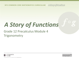 Precalculus and Advanced Topics Module 4
