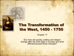 The Transformation of the West, 1450