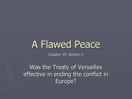 A Flawed Peace - WordPress.com