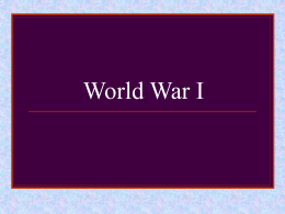 World War I – (American Hist)