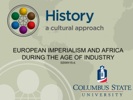 European Imperialism and Africa During the Age of Industry
