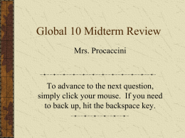 Global 10 Midterm Review
