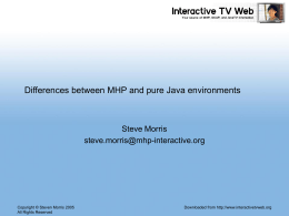 MHP vs. Java – The Differences