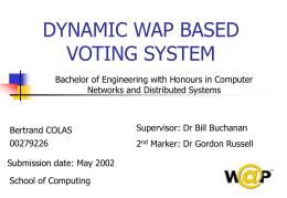 WAP Based Voting System