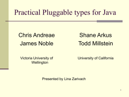 PluggableTypes