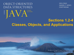 Classes, Objects, and Applications